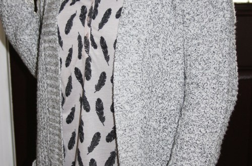 Feather Print Henley