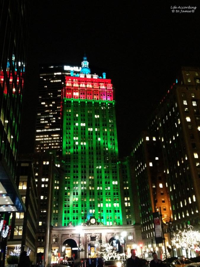 NYC Tree Lined Christmas Lights