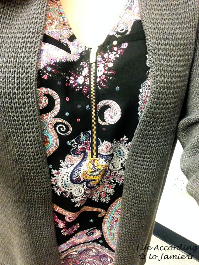 Multicolored Paisley Front Zip 1