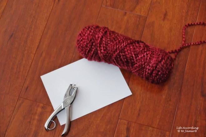 DIY Yarn Valentine's Day Card