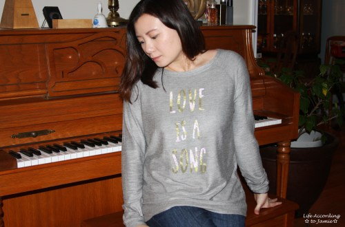 Love is a Song - Graphic Sweater