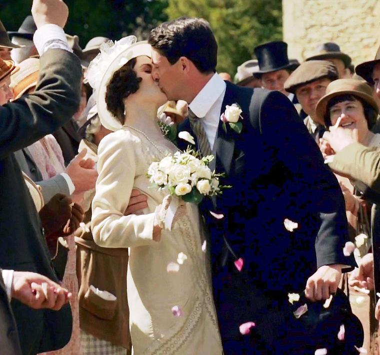 downton abbey - mary wedding 2