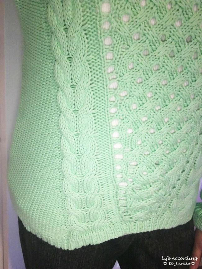 Mint Cable Knit