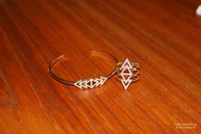 Stella & Dot Pavé Triangle