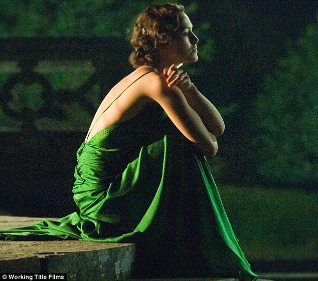 atonement - emerald green dress