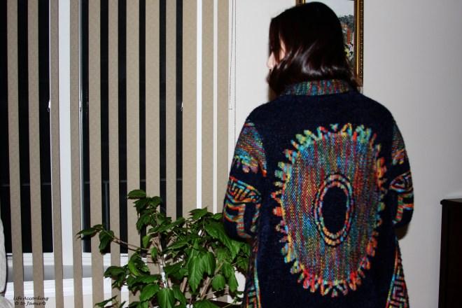 Chenille Aztec Cardigan 1