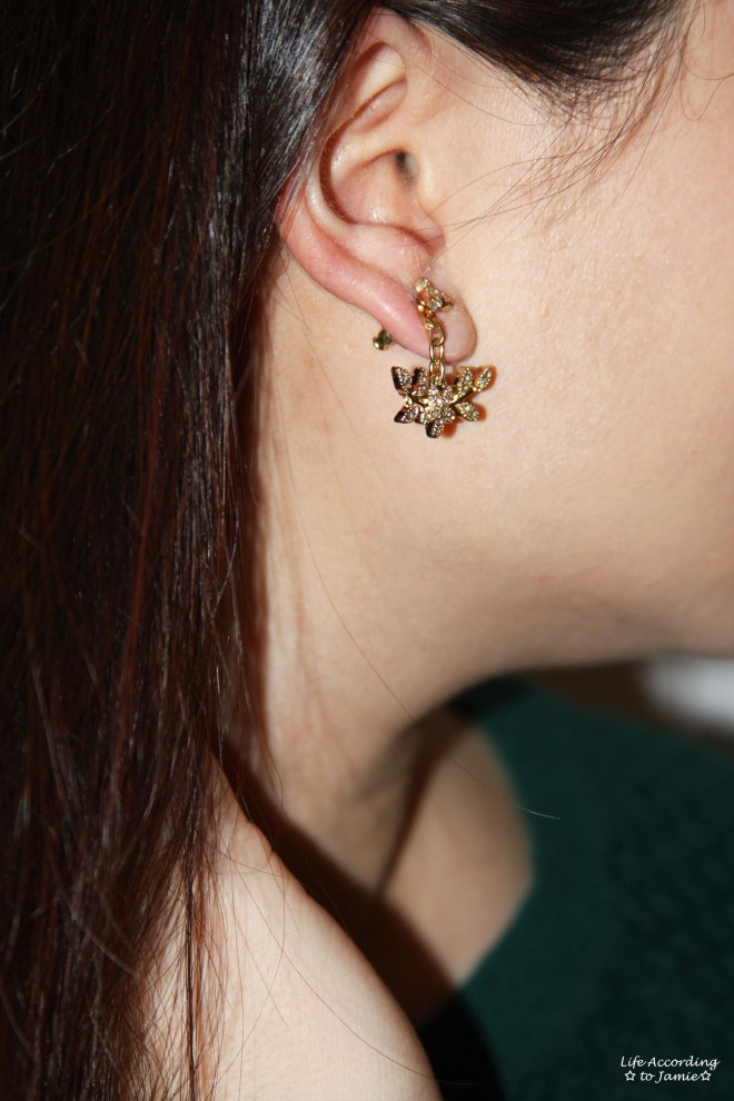 Floral Dangling Ear Jacket - Style 1