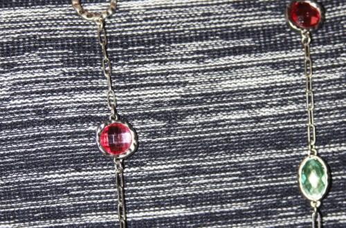 Multicolored Gem Necklace