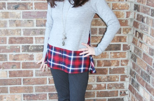 Plaid Layered Top