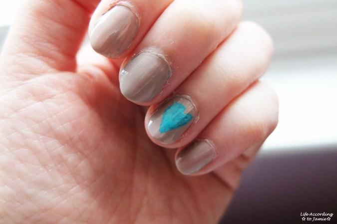Under My Feet nail polish & turquoise heart 1
