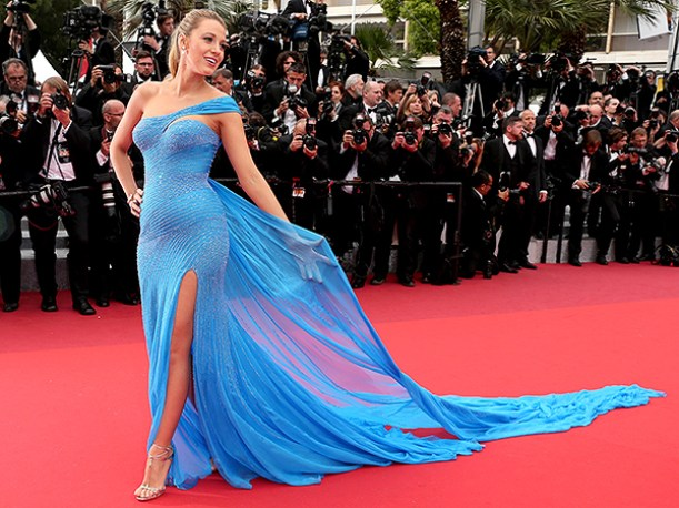 Blake Lively - Atelier Versace - Blue Gown