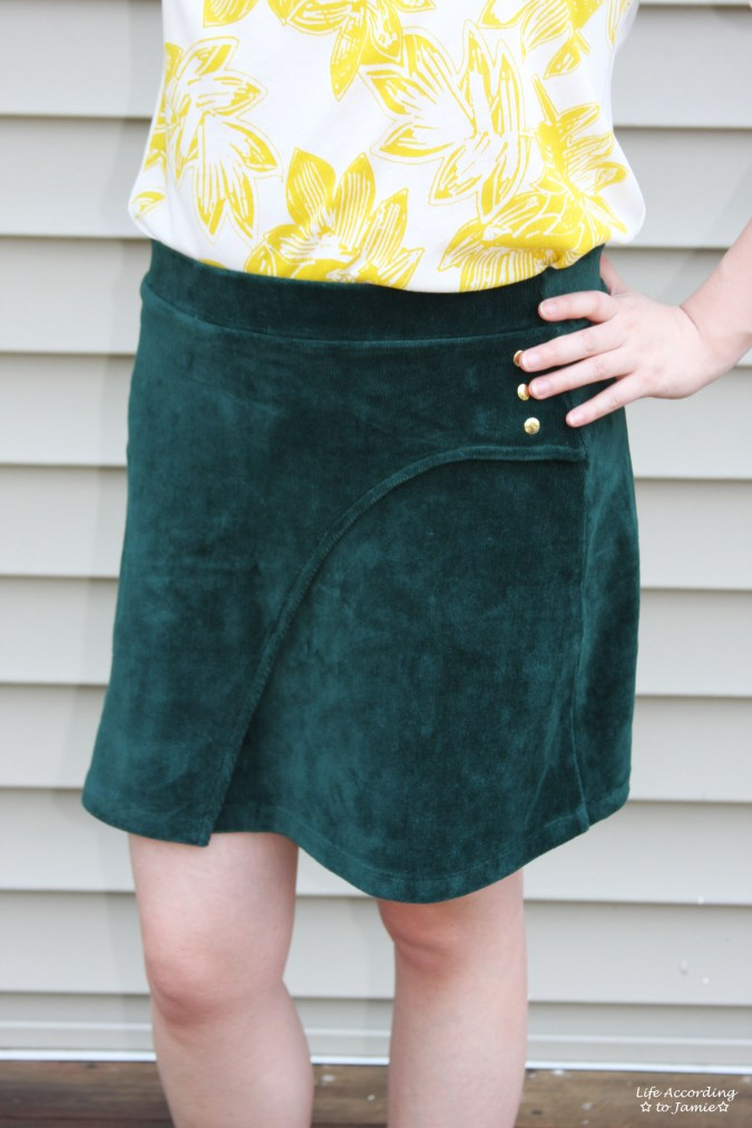 Curved Button Wrap Skirt 4