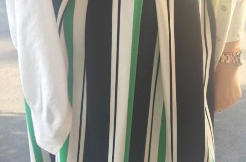 Striped Scuba Fit & Flare