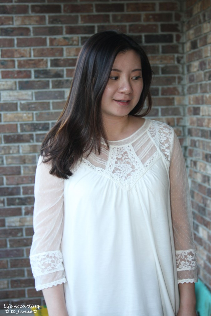 Crochet & Lace Topped Blouse 4