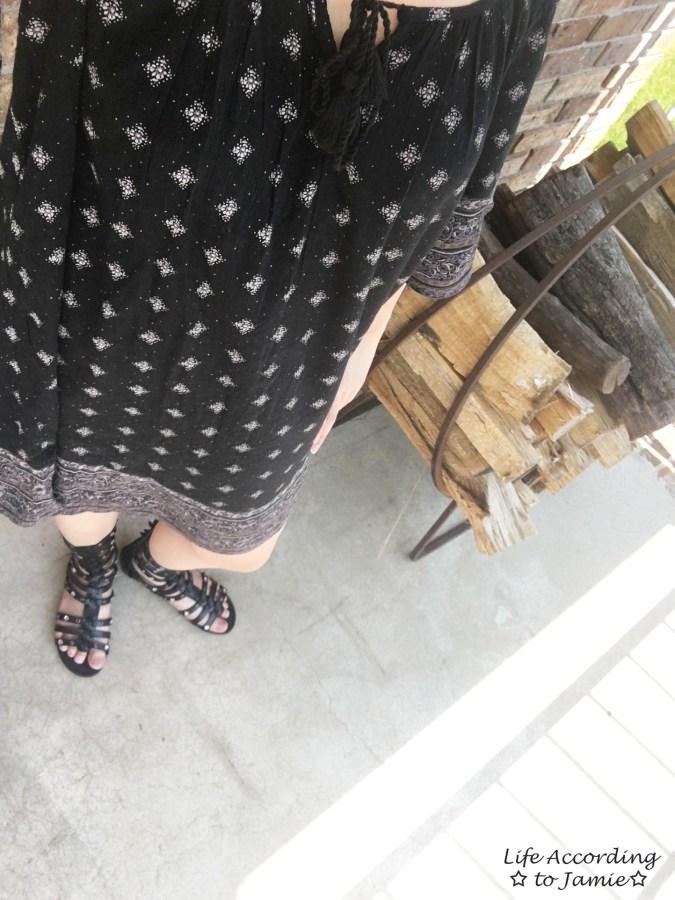 Patterned Off the Shoulder Dress 3