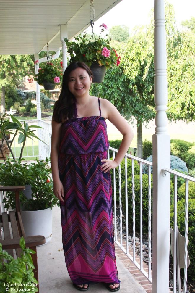 Scarf Print Maxi Dress