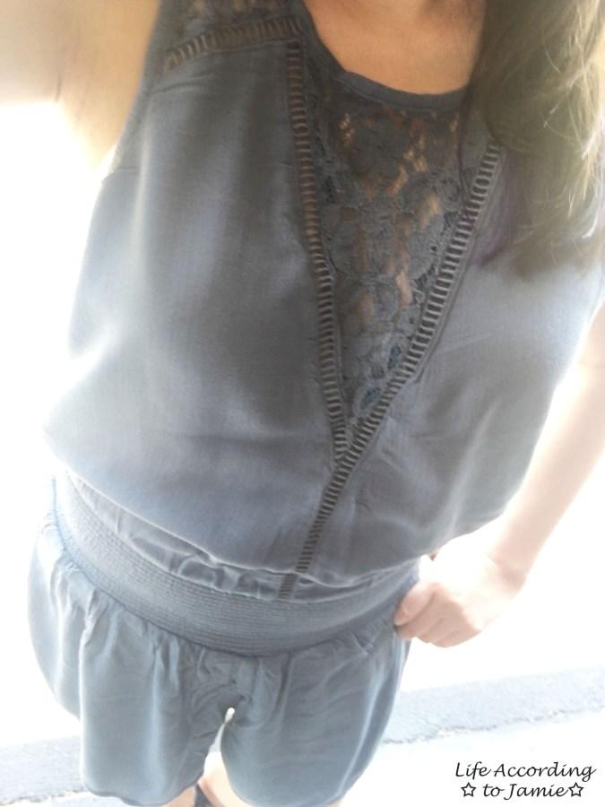 Lace Panel Romper
