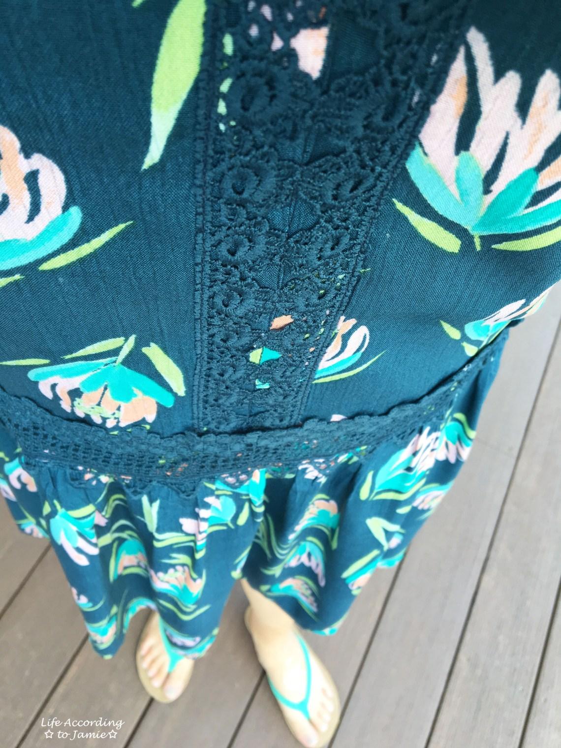 LC Lauren Conrad drop-waist-lace-trim-dress