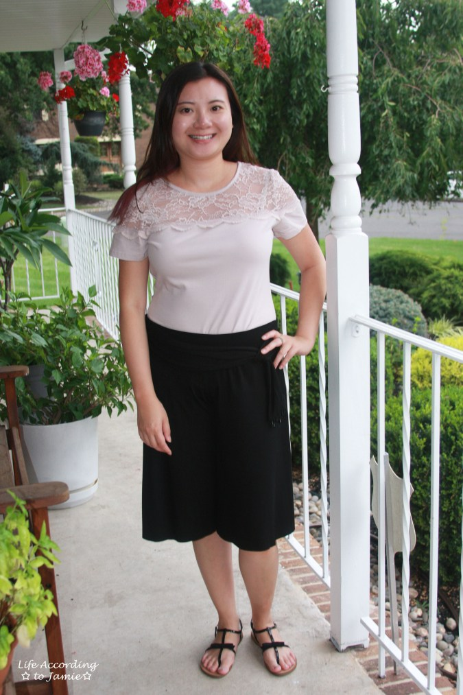 Lace Topped Blouse & Culottes 1