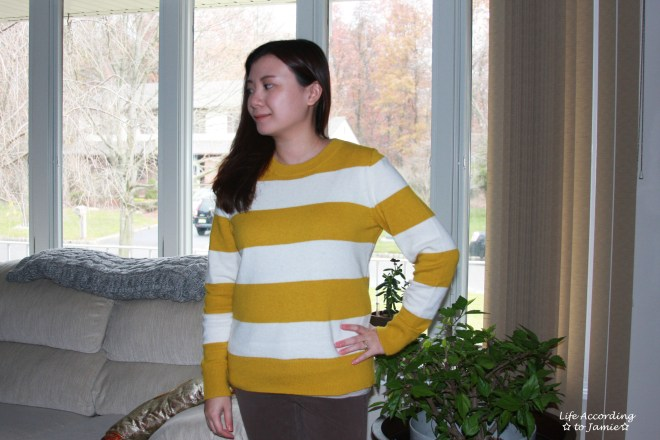 chartreuse-striped-sweater