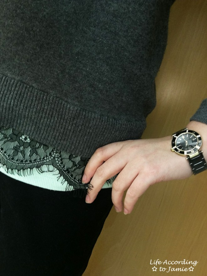 grey-sweater-black-lace-trim