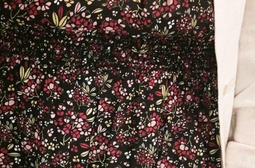 hydrangea-print-blouson-dress