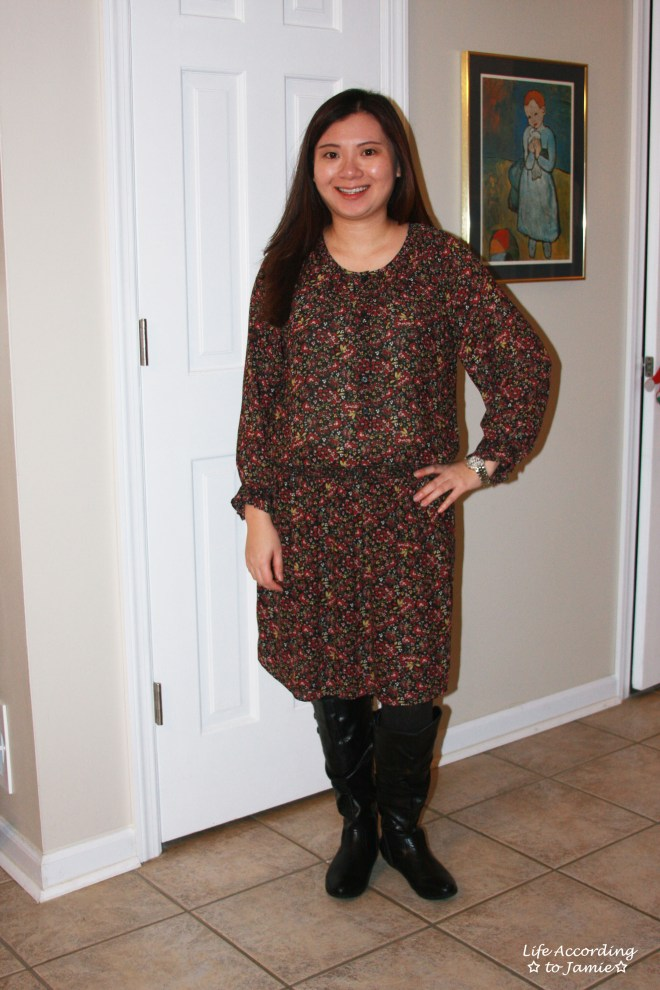 hydrangea-print-blouson-dress-2