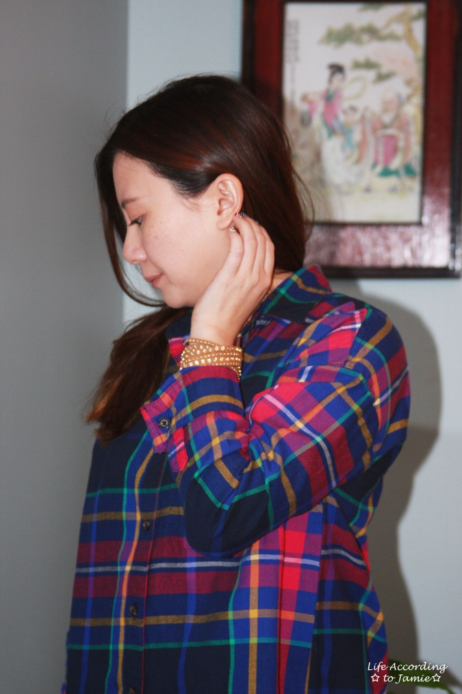 rainbow-plaid-stud-double-wrap-bracelet