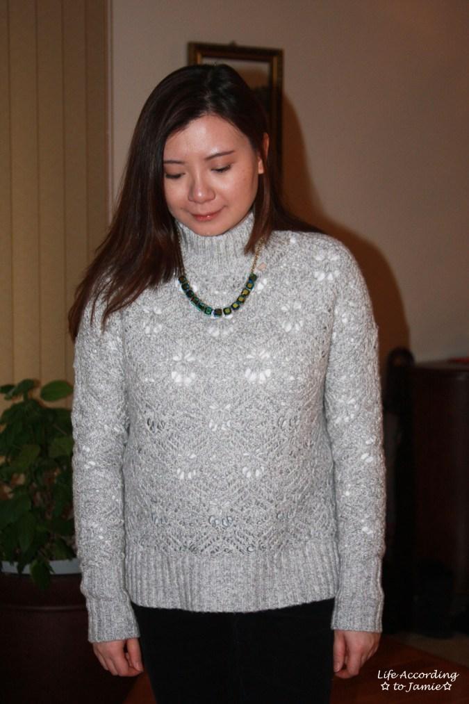 Mock Turtleneck Sweater 4