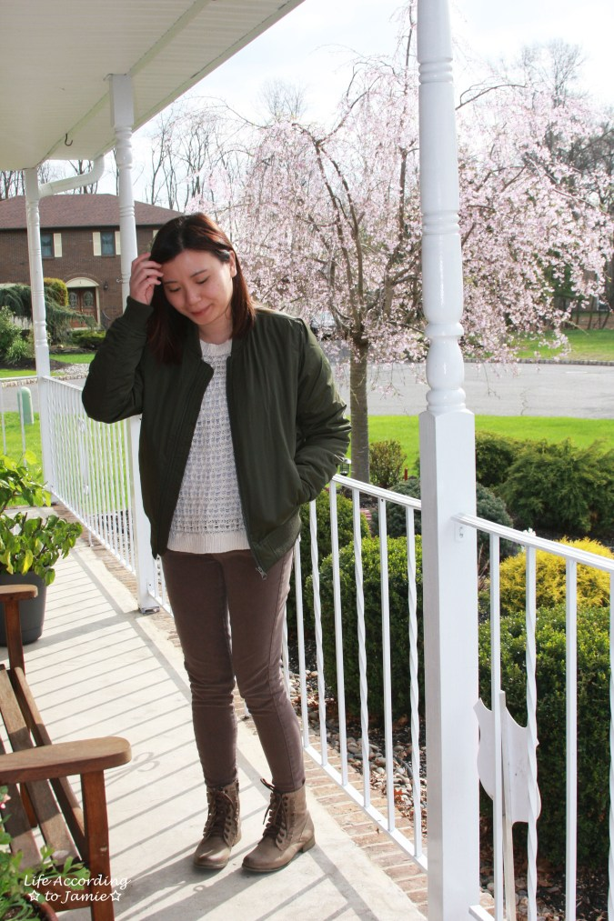 Khaki Green Bomber Jacket 8