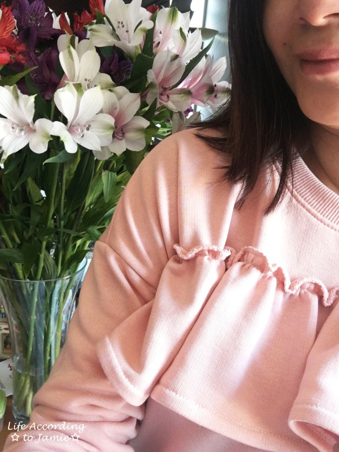 Pink Front Ruffle Sweat Top 6