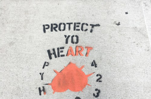 Protect Yo Heart - Sidewalk Art