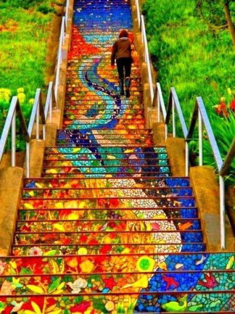 Valparaiso Chile - Stairs