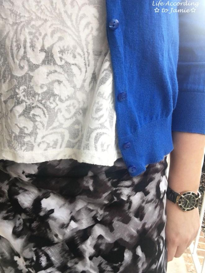 Lace + Scuba Knit Skirt 7