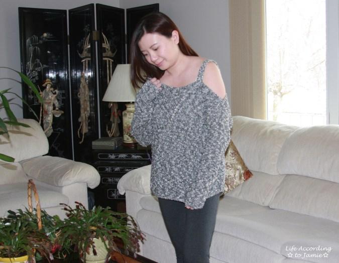 One-Shoulder Marled Sweater 3