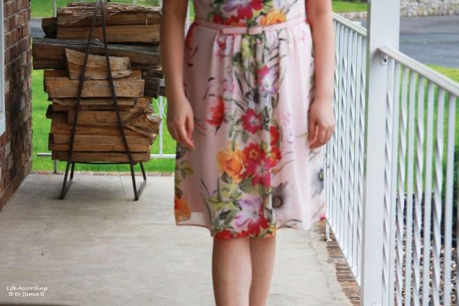 Soft Pink Floral Dress 6