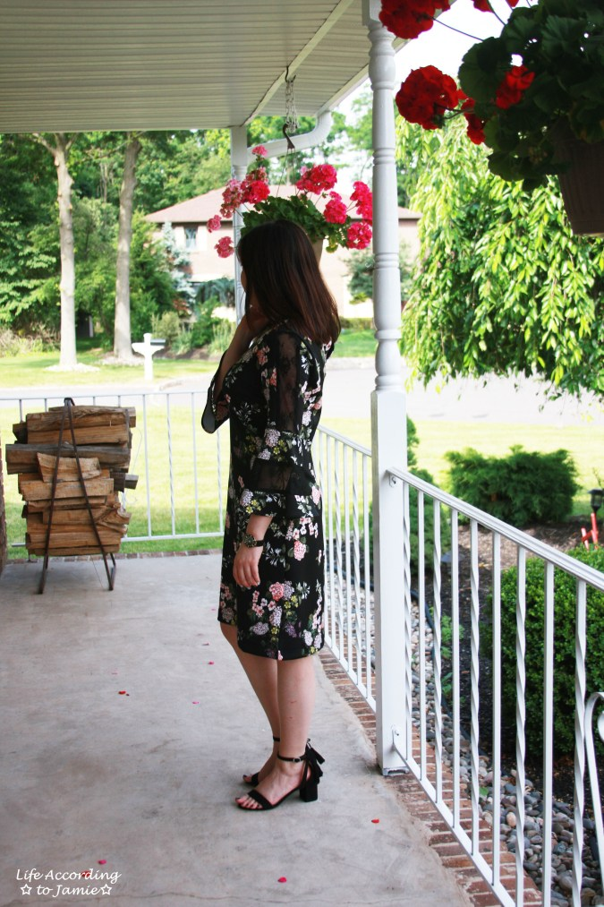 Dark Floral + Lace Dress 1