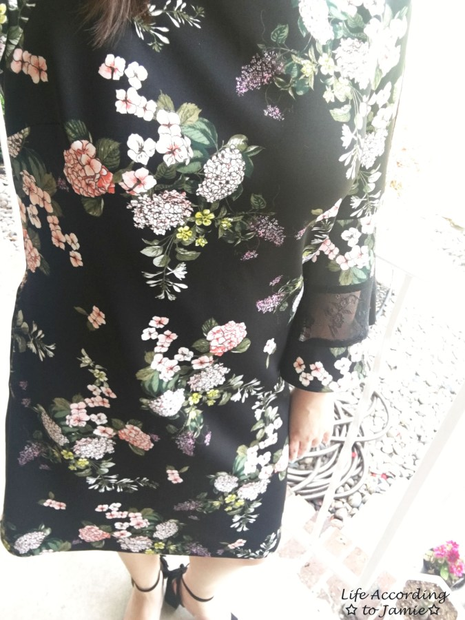 Dark Floral + Lace Dress 13
