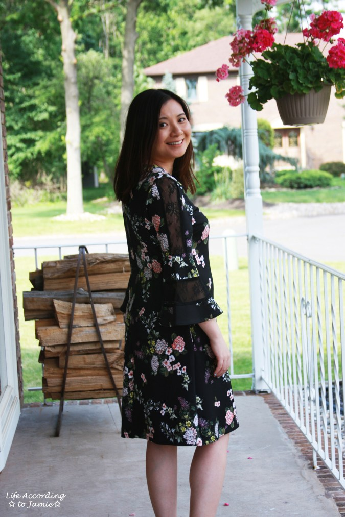 Dark Floral + Lace Dress 5