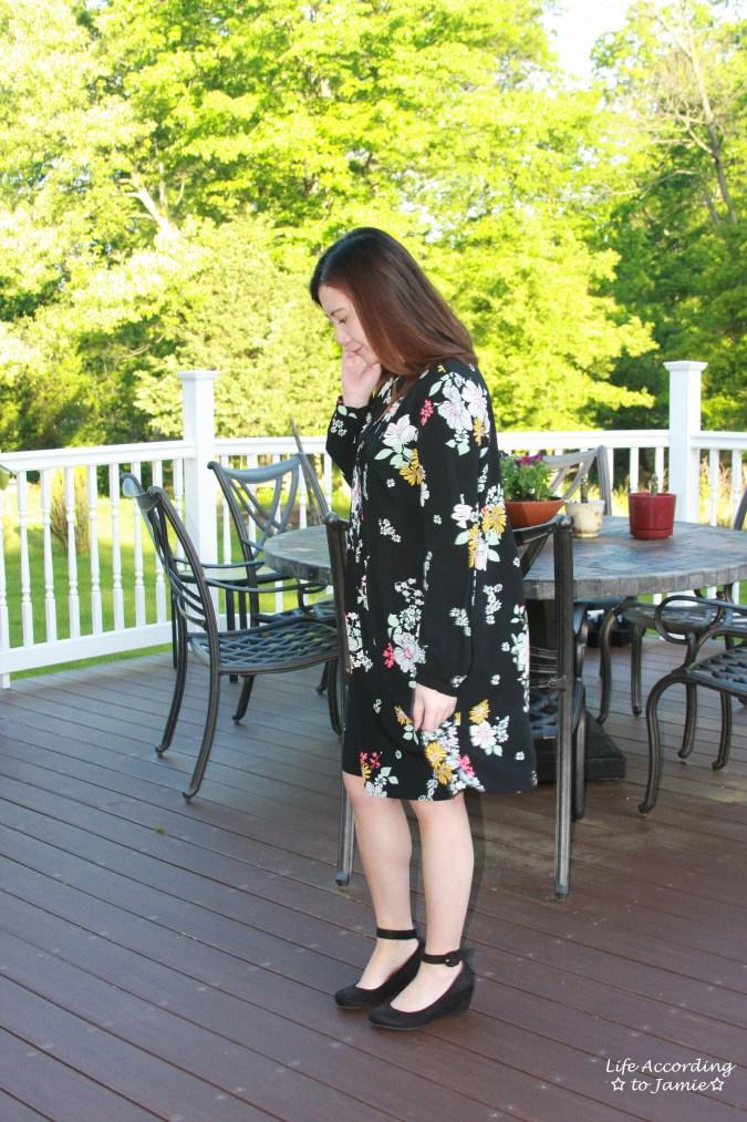 Dark Floral Shirt Dress 1