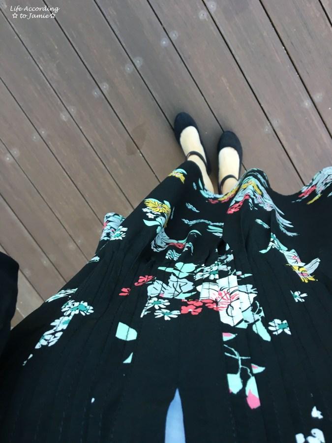 Dark Floral Shirt Dress 5
