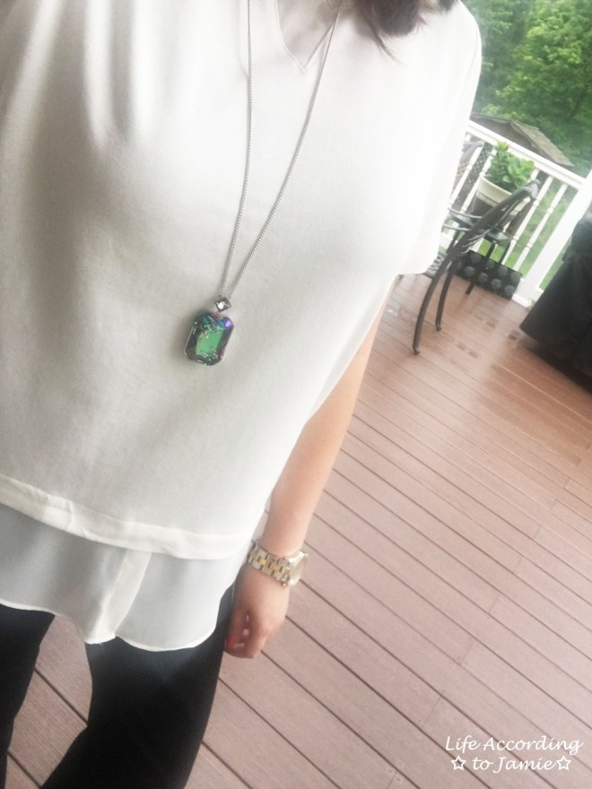 Layered Short Sleeve + Gisele Necklace 2