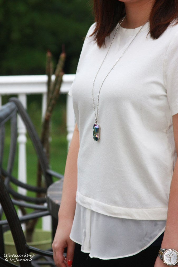 Layered Short Sleeve + Gisele Necklace 5