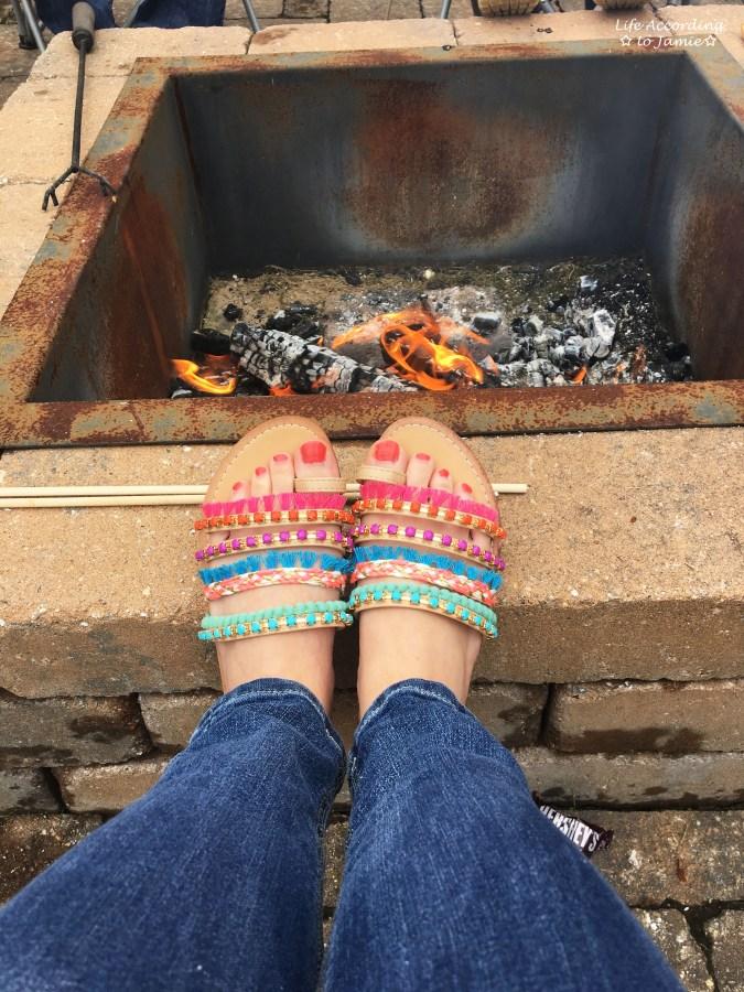 Madden Girl Pompom + Fringe Sandals 1