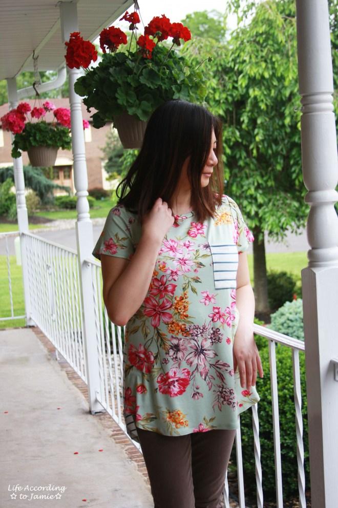 Sage Floral + Stripes 4