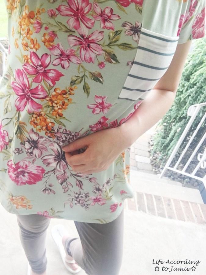 Sage Floral + Stripes 9