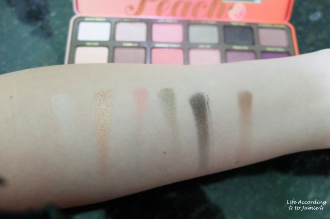 Sweet Peach Palette - Swatches