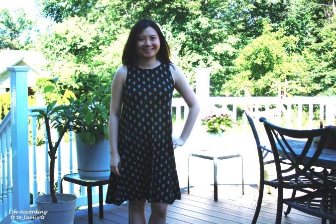Patterned Swing Dress 2