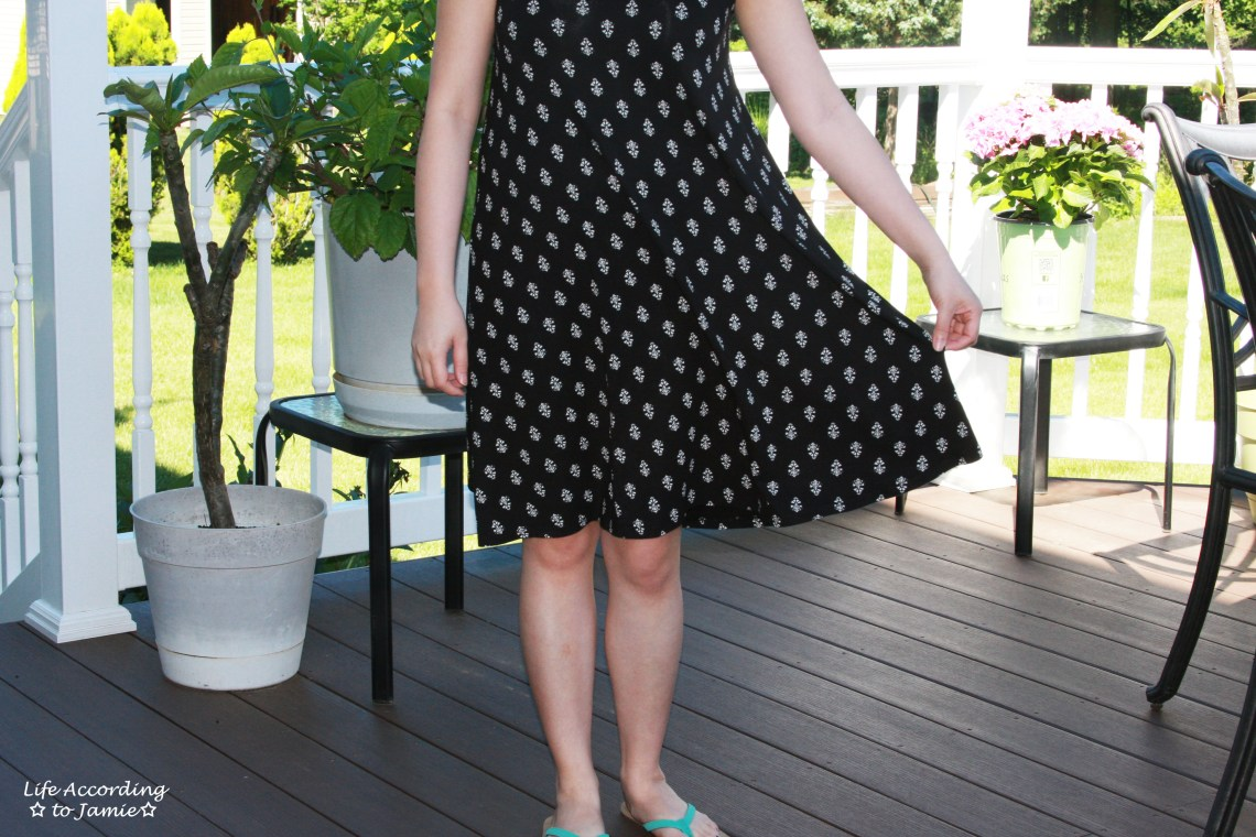 Patterned Swing Dress