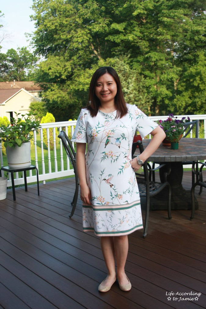 White Floral Shift Dress 4